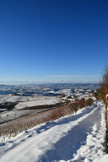 Frozen Nature Frozen Landscape  Langhe Winter Winter Landscape Snow Snow Landscape  Snowy Landscape Travel Destinations Tranquility Hills Snowy Hills Mountains And Hills Scenics Beauty In Nature