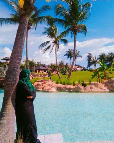 Ramadan Kareem Muslimgirl Muslims Muslim Culture Brunei Darussalam Palm Tree Tree Swimming Pool Water Tropical ClimateTourist Resort Vacations Swimming Outdoors Sky Day
