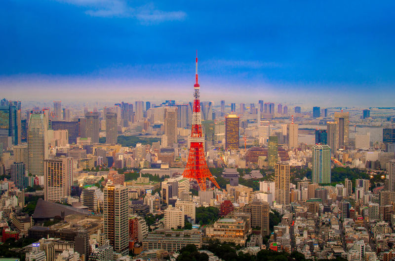Japan Tokyo Tokyo Tower Architecture Building Building Exterior Built Structure City Cityscape Cloud - Sky Crowded Financial District  Landscape Modern Office Building Exterior Outdoors Sky Skyscraper Spire  Tall - High Tourism Tower Travel Travel Destinations Urban Skyline