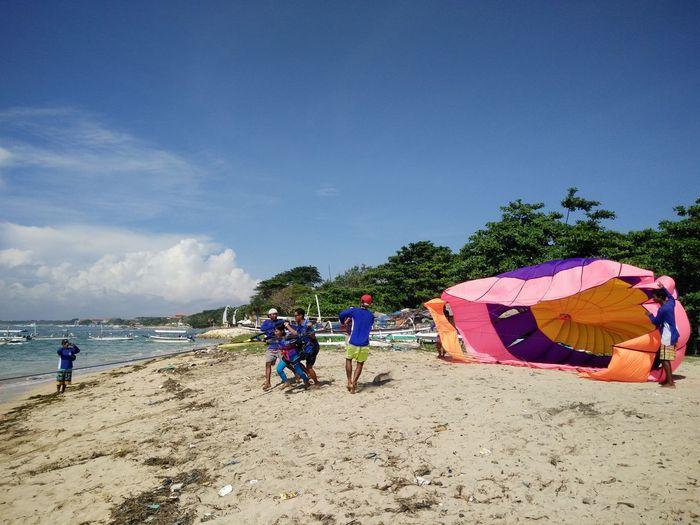 Bali, Indonesia Nusadua Tanjungbenoa Parasailing Watersports Shore