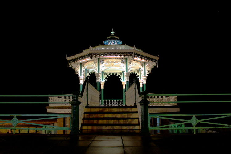Architecture Brighton Bandstand Brighton Beach Built Structure Illuminated Long Exposure Night Photography Night No People Regency Architecture