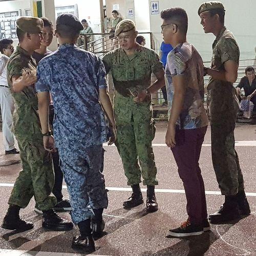 Sept 2017 Sg_streetphotography Streetphotography My Son Graduation Singapore Army Basic Military Training