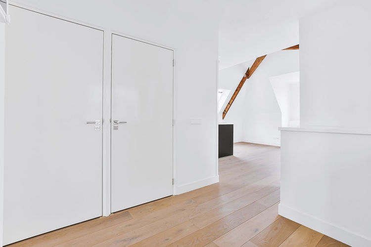 White wooden door on table at home