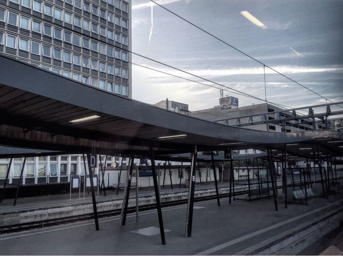 Luxembourg - terminus du train Garedeluxembourg Luxembourg Architecture Collage Clouds Sky Blue Grey Trainstation Home Is Where The Art Is