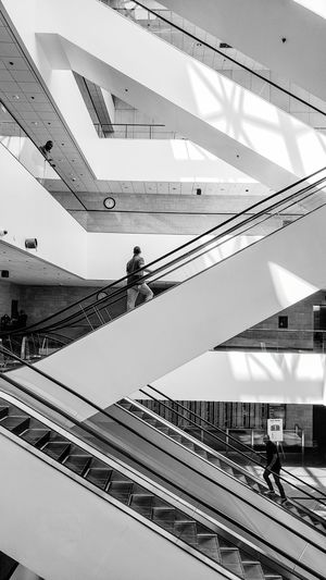 Interior Architecture Escalator Escalators Working Occupation Technology Sky Building Residential Structure Architectural Detail Building Exterior Office Building The Architect - 2019 EyeEm Awards The Mobile Photographer - 2019 EyeEm Awards