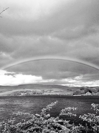 Hollingworth Lake: Black and white rainbow effect☺️ add my instagram: ellamanutd