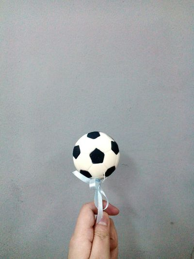 Lollipop Sweets Candy Ribbon Blue Ribbon Ball Soccer Soccer⚽ Soccer Ball Football Black And White Blackandwhite Gray Wall