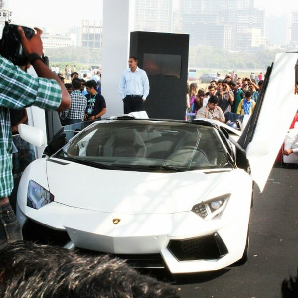 At the launch of Lamborgini Roadster..