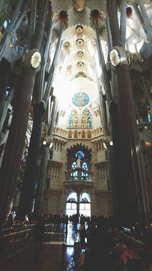 Sagrada Familia Church Gaudi Sagrada Familia Cathedral Place Of Worship City Religion Window Architecture Built Structure