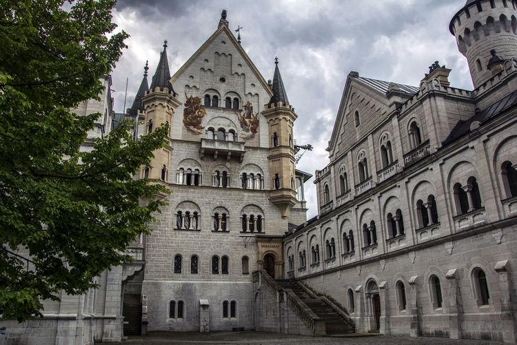 Castle Castle Courtyard Castle Neuschwanstein Disney Germany Germany Castles Neuschwanstein Old Castle Stone Wall Stones