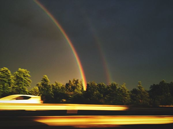 Pivotal Ideas beautiful double rainbow From A Car Window