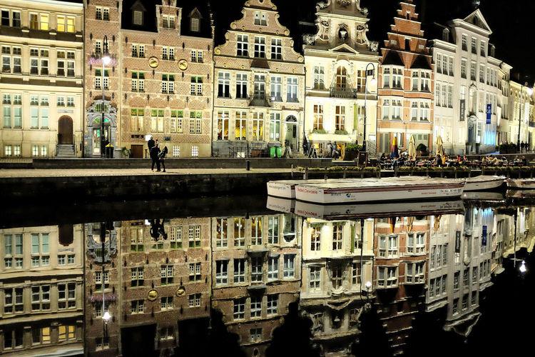 Gand Gand Ghent Gent Belgique Belgium Graslei Cityscape Architecture Building Exterior Built Structure City No People Illuminated
