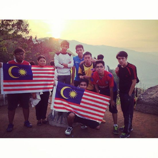 Finally here.. 31st august sunrise Bukit Broga Merdeka