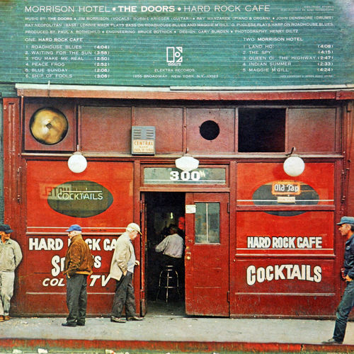 The Doors: Morrison Hotel, LP 1970. back side Art ArtWork Back Side Charts Close-up Culture Design Gramophone Record History Jim Morrison Long Play Morrison Hotel Music Pop Culture The Doors