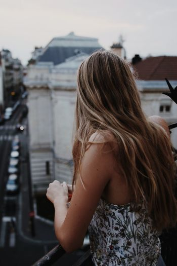 Paris Streetphotography City Balcony Human Vacation Young Women Women City Human Hand Portrait Females Long Hair Rear View Headshot Beauty Hair Human Back Hair Care Human Hair Natural Beauty #urbanana: The Urban Playground A New Beginning It's About The Journey