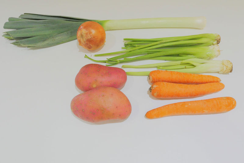 Close-up of orange slices over white background