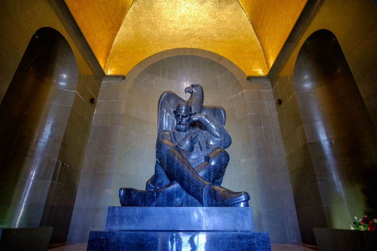 Ivan Mestrovic Njegosev Mauzolej Architecture Art And Craft Built Structure Creativity Day Human Representation Indoors  Lovcen Low Angle View Male Likeness Montenegro Njegos Njegos Mausoleum No People Sculpture Statue Travel Destinations