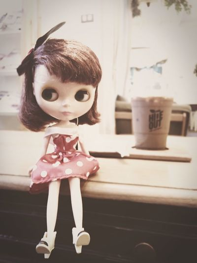 Blythe Dolls Blythe Doll Cute Toys Coffee Check This Out Enjoying Life Relaxing Portrait