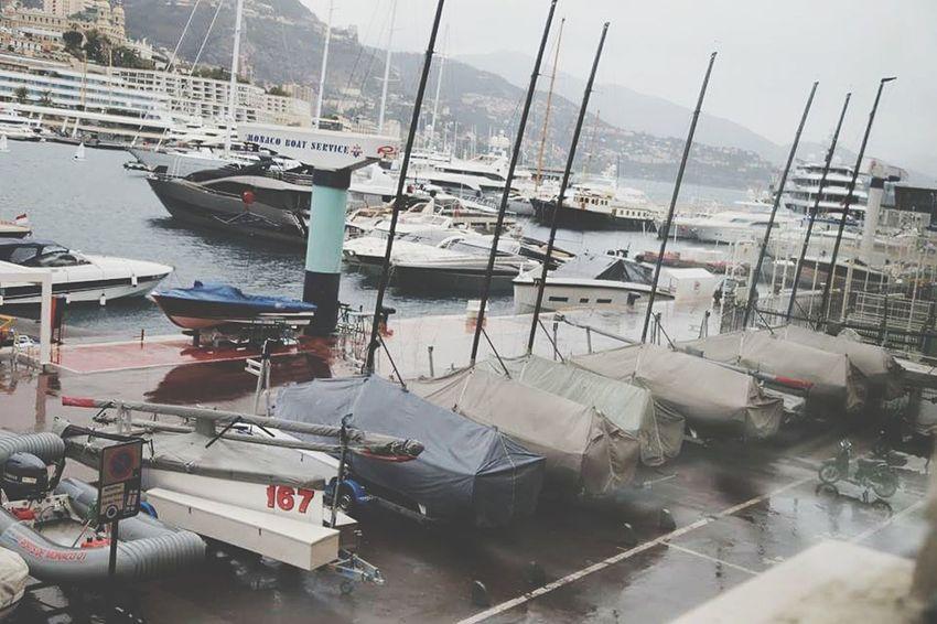 Pastel Power Port Monaco Point Of View Boats Window View Rain Day