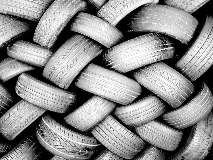 Re-Tyred Photography Canon Still Life Outdoor Photography Tyres Pattern Blackandwhite Inspirational Full Frame Backgrounds Abundance Large Group Of Objects No People Indoors