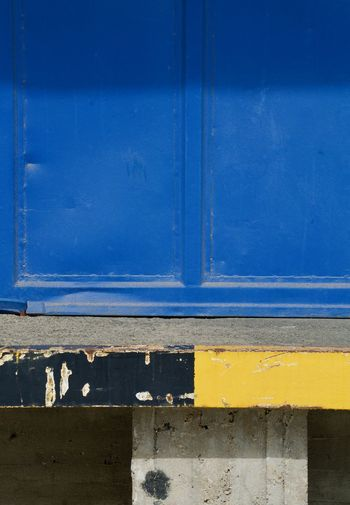 Loading ramp (detail) Abstract Blackandwhite Blue Concrete Loading Ramp Outside Use Yellow
