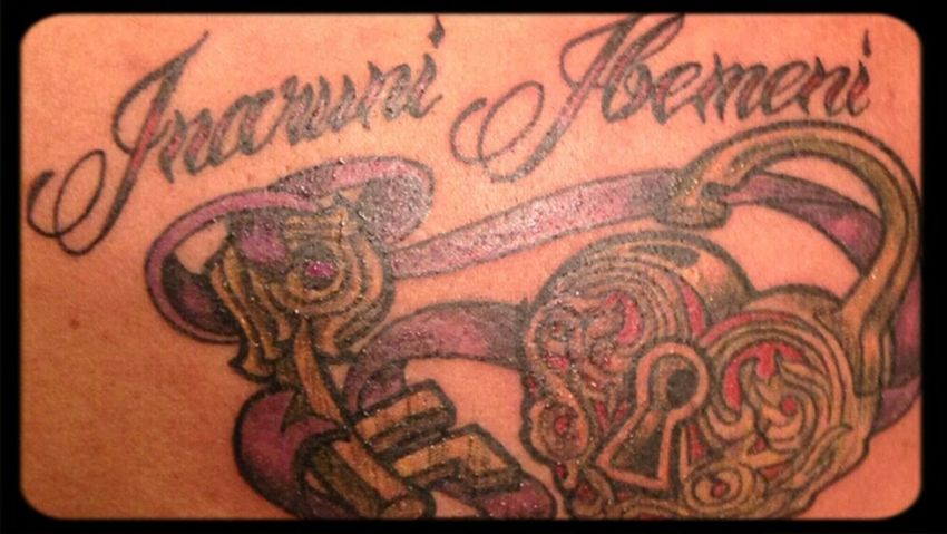 Tattoo Of My 2 Daughters Name