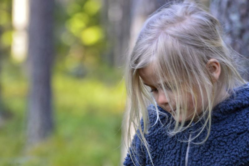 Girl in the forest Wearing Relaxation Nature Nature Photography Nature_collection Selective Focus Spring Springtime Forest WoodLand Outdoors Hiking Hike Trees Wilderness Wilderness Area Allemansrätten Blond Hair Child Childhood Girls Long Hair Close-up Tangled Hair Hair Toss Tousled Hair Thoughtful Woolen Frizzy Tangled Summer Exploratorium Visual Creativity #FREIHEITBERLIN The Great Outdoors - 2018 EyeEm Awards Autumn Mood