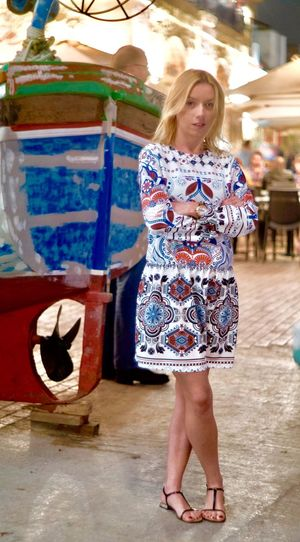 Malta top tourist rates One Person Full Length Fun Arts Culture And Entertainment Young Adult Blond Hair Standing Leisure Activity One Woman Only Happiness Real People Women Adult Young Women Beautiful Woman Smiling Portrait Day One Young Woman Only Only Women