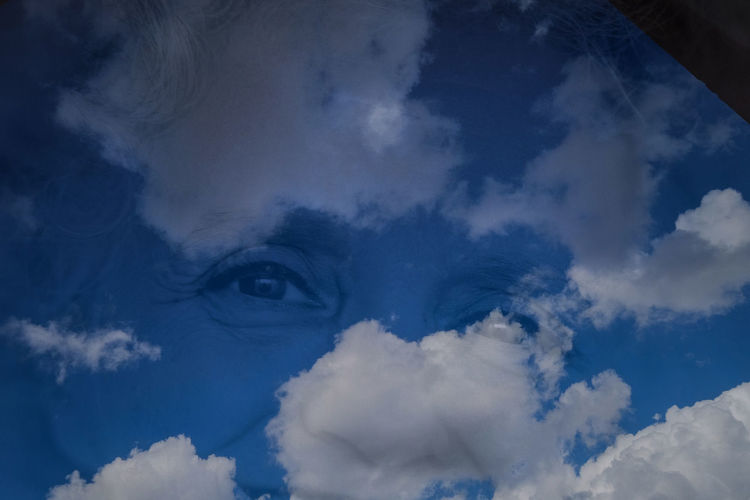 Close-up of blue sky and clouds