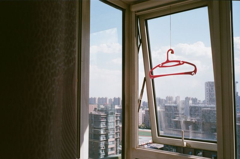 View Of City Through Window