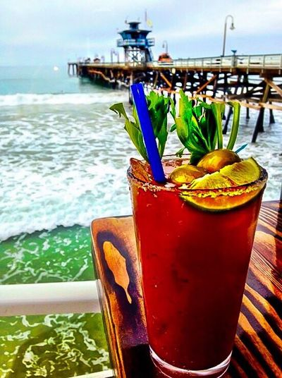 Liquid Lunch Vacation Liquidlunch Bloodymary Bloody Marys BLOODY Mary Pier Sanclemente Fishermans