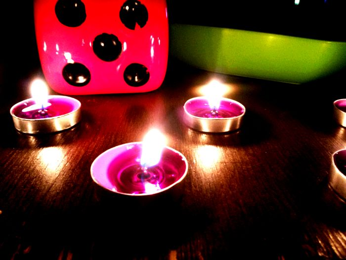 Candles my purple candles:) Bosna Hersek Konya Colorful