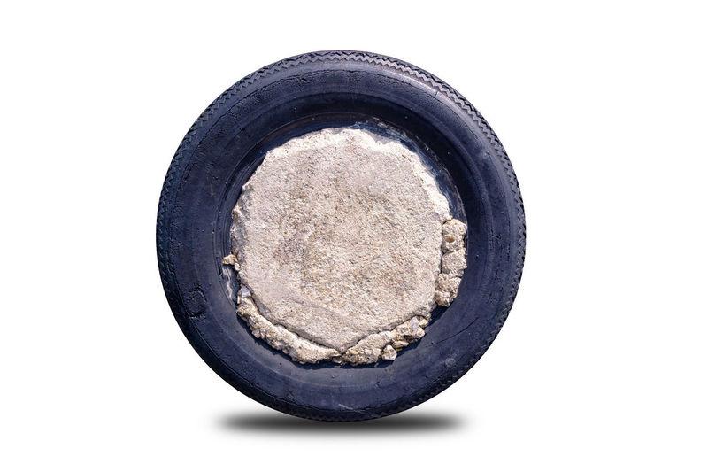 Old tire wheel,