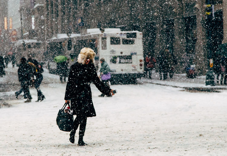 Blizzard Cold Temperature Holidays New York City NYC Season  Snow Storm Street Streetphography Struggle Walking Winter Woman Young Adult