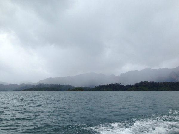 Cloud Nature The Rain Is Coming Dam at Suratthani Thailandtravel