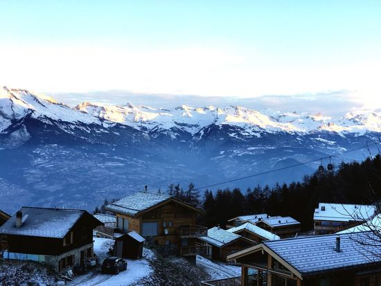 Adapted To The City Chalet Winter Wintertime Alps Alpine Mountain Mountains
