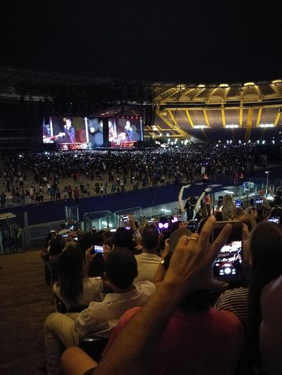 Tiziano Ferro Tour 2017 Capture The Moment Stadio Olimpico 30/Giugno/2017 The Purist (no Edit, No Filter) Arts Culture And Entertainment Rome Italy🇮🇹 Color Photography Fan - Enthusiast Performance Music Illuminated Light And Shadow Night Crowd Music Nightlife Large Group Of People Popular Music Concert Music Festival Audience People Celebration Enjoyment Spectator Leisure Activity