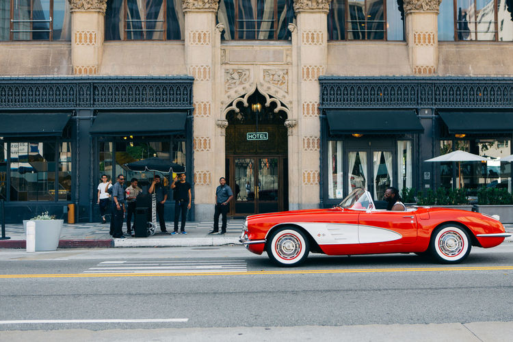 That Cali drop top swag 👌🏼 #DTLA #acehotel #acehoteldtla #losangeles #california #swag #streetphotography #summer #driveby #vsco #vscocam Ace Hotel California Classic Car DTLA Hot Lifestyle Los Angeles, California Los Ángeles Red Adult Architecture Building Exterior Built Structure Car City Convertible Convertible Car Day Land Vehicle Men Outdoors People Real People Style Transportation