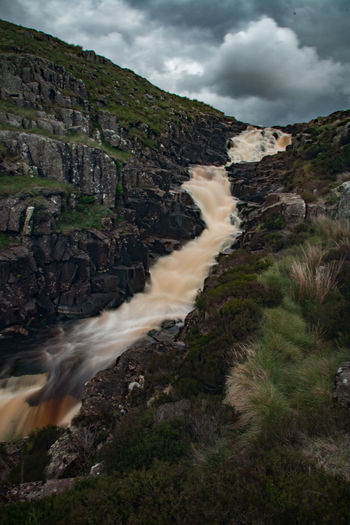 High Force Waterfall High Force Beauty In Nature Blurred Motion Cauldron Snout Cloud - Sky Day Hot Spring Landscape Long Exposure Motion Mountain Nature No People Outdoors Physical Geography Power In Nature Rock - Object Scenics Sky Tranquil Scene Tranquility Travel Destinations Water Waterfall