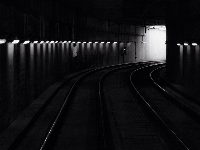 Black Blackandwhite Dark Light Darkness And Light Light And Shadow Tunnel Contrast Subway Railway Perspective Taking Photos EyeEm Best Shots EyeEm
