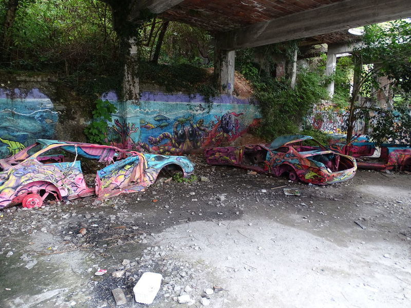 Cars Luino Abandoned Architecture Caldana Graffiti Multi Colored No People