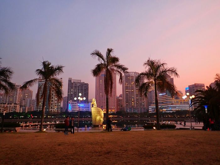 Xiamen China Amoy Xiamenegretpark Sunset