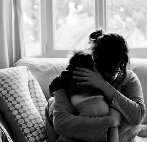 Consoled Sad Sadness Newborn NewBorn Photography Motherhood Parent Cry Weeping Love Babygirl Togetherness Hugging Console Eye4photography  Blackandwhite Blackandwhite Photography Love EyeEm Best Shots Photooftheday Picoftheday EyeEmBestPics Fragility Woman Who Inspire You Wife Spouse
