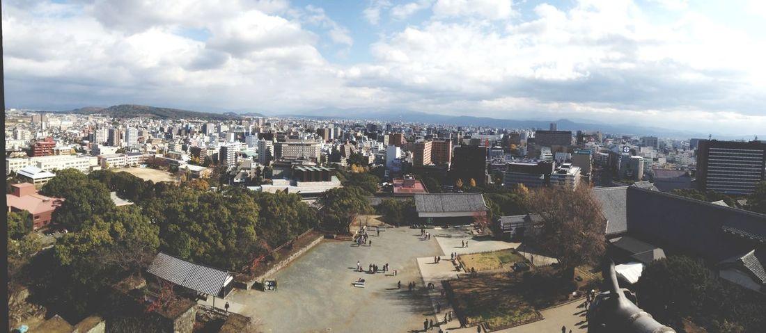 On top of the 熊本城 ❤️ 熊本城 熊本 キレイ