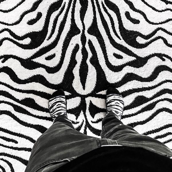 Calling Zebra 3...! Zebra Zebra Stripes Zebra Print Standing Lifestyles Personal Perspective Pattern Wildstyle Black And White Street Photography Fine Art Photography Fashion Peace High Angle View Indoors  Starsky & Hutch BYOPaper!