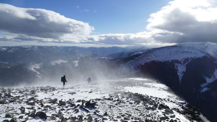 Windaway. Weather Wind Wind Blown Breezyyy  Snow Drifts Ridgeline Crisp White And Blue
