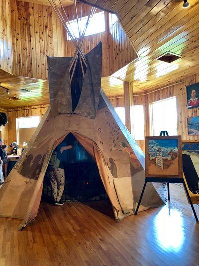 Crazy Horse Memorial Girls Trip 2018 Tepee Indoors  Architecture Built Structure No People Day Wood - Material Flooring