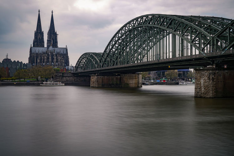 Architecture Bridge - Man Made Structure Building Exterior Built Structure City Cityscape Cologne Day Dusk Köln No People Outdoors River Sky Travel Destinations Urban Skyline Water