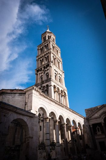 Split Split Croatia Architecture Built Structure Building Exterior Sky Building Low Angle View Place Of Worship Religion Tower Nature Travel Destinations Outdoors