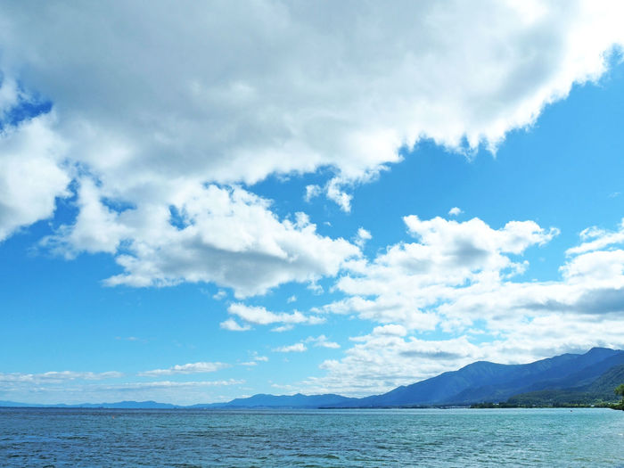 Scenery of beautiful Biwa lake (綺麗な琵琶湖の風景) Ad Beautiful Biwa Lake Blue Color Cloud Copy Space Daytime Green Nature Quiet Black Color Blue Sky Brown Countryside Lake Landscape Margin No Person Nobody Silence Sky Text Space Water White 琵琶湖